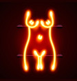 neon sign striptease striptease bar alcohol vector image