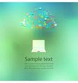 Notebook computer social network web icon vector image vector image