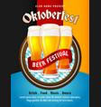 oktoberfest flyer munich beer festival poster vector image vector image