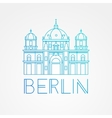 one line minimalist icon of German Berlin vector image vector image