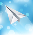 Paper Plane Abstract Background vector image vector image