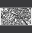 paris france city map in retro style in black and vector image