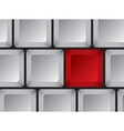 Part of computer keyboard without symbols vector image vector image