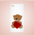 phone icon with hearts vector image vector image