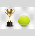 realistic 3d blank golden champion cup icon vector image vector image