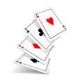 set four aces deck cards vector image vector image