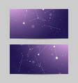 set of horizontal banners geometric pattern with vector image vector image