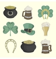 Set of pictures for St Patricks Day Colored vector image vector image
