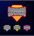 sport emblem typography super hero logotype vector image