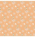 Spring wild flower orange and beige field seamless vector image vector image