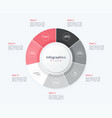 stylish pie chart circle infographic template 7 vector image vector image