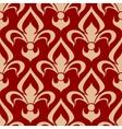 Victorian heraldic fleur-de-lis seamless pattern vector image vector image