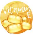 vitamin e capsules vector image