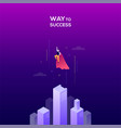 way to success - modern isometric web vector image vector image