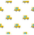 yellow stacker loader pattern flat vector image vector image