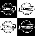 Danger Original Free rubber stamp vector image