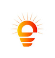 light bulb abstract logo vector image