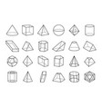 collection of geometric shapes vector image