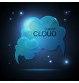 Website template design Cloud speech bubble vector image