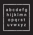alphabet letters set over grunge textured vector image