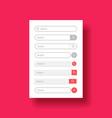 set design element for web or mobile user vector image