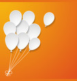 a bunch of white paper balloons vector image vector image