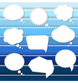 Abstract Blue Background With Speech Bubbles vector image vector image