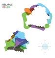 Abstract color map of Belarus vector image vector image