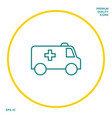 ambulance line icon graphic elements for your vector image vector image