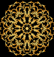 background with a circular gold ornaments vector image vector image