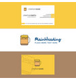 beautiful beer logo and business card vertical vector image vector image