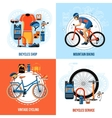 Biking 2x2 Design Concept vector image
