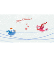 birds with snowflakes vector image vector image