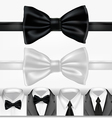 black and white ties vector image