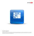 bookcase furniture icon - 3d blue button vector image