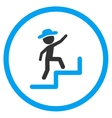 Boy Steps Upstairs Rounded Icon vector image vector image