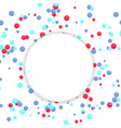 bright round colorful confetti circle banner vector image vector image