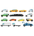 car models set different automobiles types vector image vector image