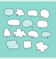 cartoon text balloons speech bubbles doodle vector image