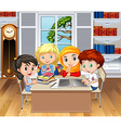 Children learning in classroom vector image vector image