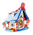 christmas house with festive decorations and vector image vector image