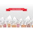Christmas seamless backgound vector image vector image