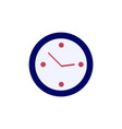 clock icon simple time sign flat vector image