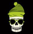 cool skull print for tshirt vector image