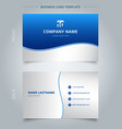 creative business card and name card template vector image