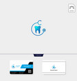 Dental icon logo template free business card