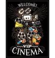 Doodle Cinema Poster vector image vector image