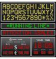 electronic alphabet vector image