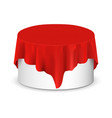 empty podium stand with tablecloth vector image