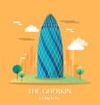 famous london landmark the gherkin vector image vector image